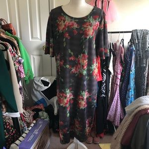 LuLaRoe floral textures Julia dress Size 3X
